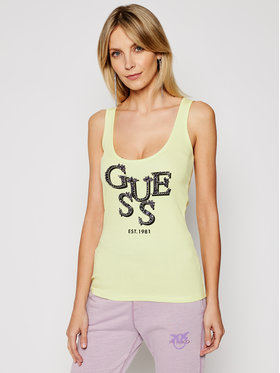 Guess Guess Top Arlene W1GP0J K1811 Żółty Slim Fit