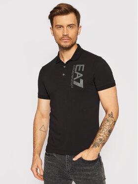 EA7 Emporio Armani EA7 Emporio Armani Тениска с яка и копчета 6KPF16 PJ03Z 1200 Черен Regular Fit