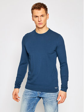 Pepe Jeans Pepe Jeans Longsleeve Orginal Basic PM503803 Dunkelblau Slim Fit