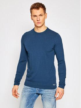 Pepe Jeans Pepe Jeans S dlhými rukávmi Orginal Basic PM503803 Tmavomodrá Slim Fit