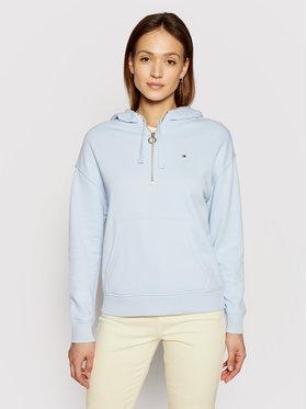 Tommy Hilfiger Tommy Hilfiger Sweatshirt Ess Half Zip WW0WW30463 Bleu Relaxed Fit