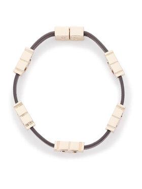 Tory Burch Tory Burch Bransoletka Serif-T Single Wrap Bracelet 61675 Brązowy