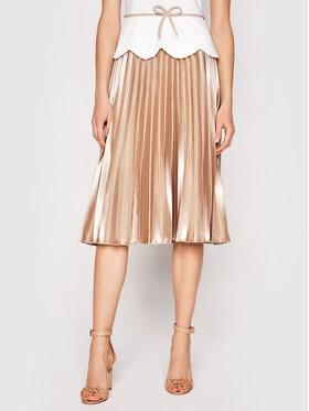 Rinascimento Rinascimento Sukienka koktajlowa CFC0102489003 Biały Slim Fit