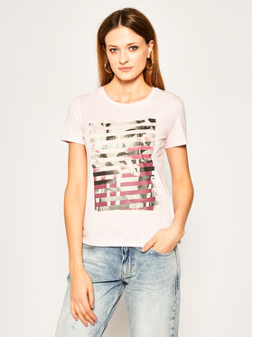 Guess Guess T-shirt W0GI40 K46D0 Rosa Regular Fit