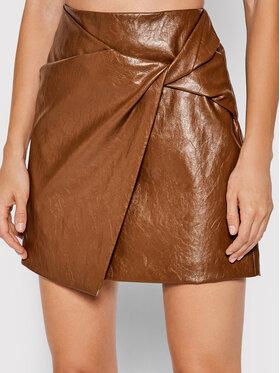 Marella Marella Spódnica z imitacji skóry Puffo 31060116 Brązowy Regular Fit