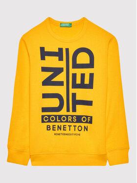 United Colors Of Benetton United Colors Of Benetton Mikina 3J68C15B6 Žlutá Regular Fit