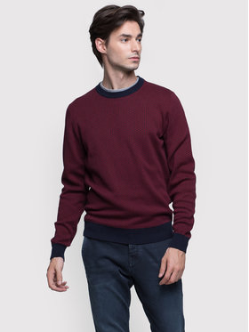 Vistula Vistula Sweter Marco Duo XA0810 Bordowy Regular Fit