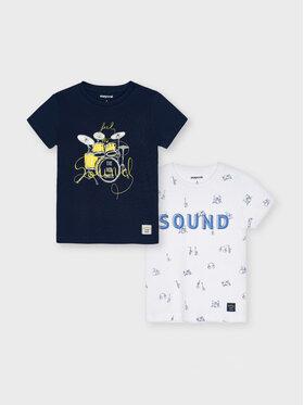 Mayoral Mayoral Set di 2 T-shirt 3050 Blu scuro Regular Fit