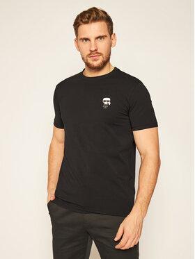 KARL LAGERFELD KARL LAGERFELD T-Shirt Crewneck 755027 502221 Μαύρο Regular Fit