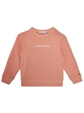 Calvin Klein Jeans Calvin Klein Jeans Pulóver Metallic Chest Logo IG0IG00577 Rózsaszín Regular Fit