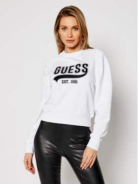 Guess Guess Felpa Front Logo W1GQ36 K68I0 Bianco Regular Fit