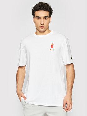 Puma Puma T-Shirt Downtown Graphic 530899 Biały Loose Fitche