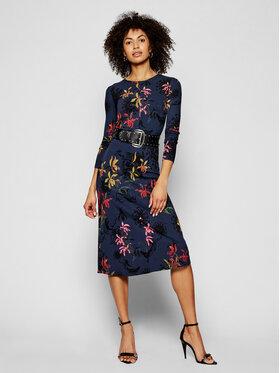 Desigual Desigual Trikotažinė suknelė Koko 21SWVK24 Tamsiai mėlyna Slim Fit