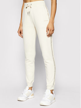 Calvin Klein Jeans Calvin Klein Jeans Spodnie dresowe J20J215458 Beżowy Tapered Fit