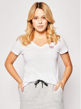 Tommy Jeans Tommy Jeans T-Shirt V-neck DW0DW08059 Biały Regular Fit