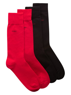 Hugo Hugo Σετ 2 ζευγάρια ψηλές κάλτσες ανδρικές 2P Rs Uni Cc 50448250 Μαύρο