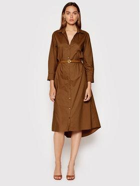 Rinascimento Rinascimento Sukienka koszulowa CFC0102979003 Brązowy Regular Fit