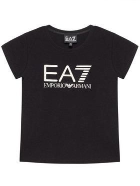 EA7 Emporio Armani EA7 Emporio Armani Marškinėliai 3KFT51 FJ2HZ 1200 Juoda Regular Fit