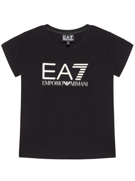 EA7 Emporio Armani EA7 Emporio Armani T-shirt 3KFT51 FJ2HZ 1200 Crna Regular Fit