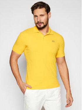 La Martina La Martina Тениска с яка и копчета CCMP02 PK001 Жълт Slim Fit