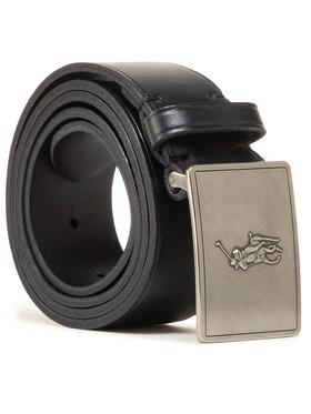 Polo Ralph Lauren Polo Ralph Lauren Pánsky opasok 36mm Pp Plaque Belt 405691693001 Čierna