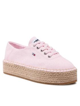 Tommy Jeans Tommy Jeans Εσπαντρίγιες Essential Flatform Espadrille EN0EN01434 Ροζ