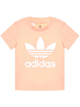 adidas adidas Marškinėliai Trefoil GN8176 Rožinė Standart Fit