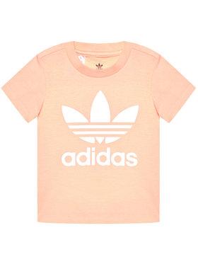 adidas adidas T-Shirt Trefoil GN8176 Rosa Standart Fit