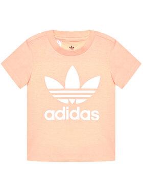 adidas adidas T-Shirt Trefoil GN8176 Różowy Standart Fit