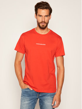 Calvin Klein Jeans Calvin Klein Jeans Marškinėliai Embroidered Logo J30J315186 Raudona Regular Fit
