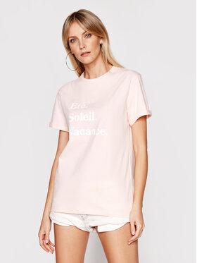 Drivemebikini Drivemebikini T-shirt Ete Soleil Vacance 2019-DRV-002_LP Rose Relaxed Fit
