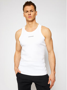 Calvin Klein Jeans Calvin Klein Jeans Tank top J30J318071 Biały Regular Fit