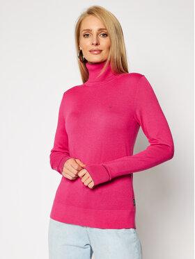 Calvin Klein Calvin Klein Bluză cu gât Ls Roll Neck K20K202244 Roz Regular Fit