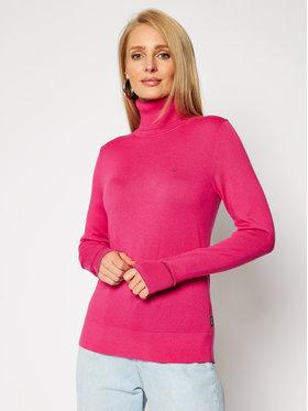 Calvin Klein Calvin Klein Golf Ls Roll Neck K20K202244 Różowy Regular Fit