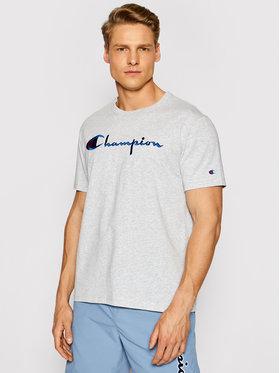 Champion Champion Marškinėliai Script Logo Crew 210972 Pilka Regular Fit