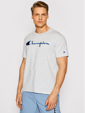 Champion Champion T-shirt Script Logo Crew 210972 Grigio Regular Fit