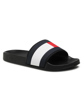 Tommy Hilfiger Tommy Hilfiger Чехли Essential Flag Pool Slide FM0FM03484 Черен