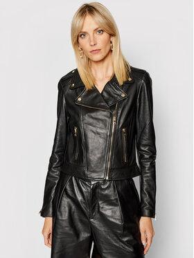 LaMarque LaMarque Kožená bunda Donna 21 Čierna Tailored Fit