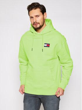 Tommy Jeans Tommy Jeans Mikina Tjm Badge Hoodie DM0DM06593 Zelená Regular Fit