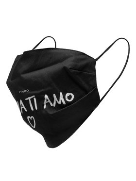 Pinko Pinko Текстилна маска Malizia Mascherina 20202 PRR 1N20CG.Y6XS Черен