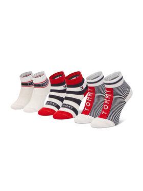 Tommy Hilfiger Tommy Hilfiger Set di 3 paia di calzini corti da bambini 100002326 Multicolore