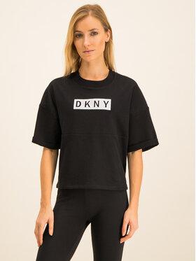 DKNY Sport DKNY Sport Marškinėliai DP9T6738 Juoda Regular Fit