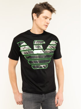 Emporio Armani Emporio Armani T-Shirt 3H1T79 1JSTZ 0999 Czarny Regular Fit