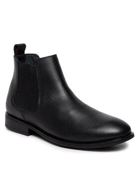 Tommy Hilfiger Tommy Hilfiger Členková obuv s elastickým prvkom Technical Leather Chelsea FM0FM03767 Čierna