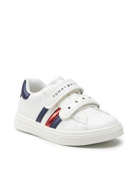 Tommy Hilfiger Tommy Hilfiger Sneakersy Low Cut Velcro Shoe T1A4-31147-0621X336 Biały