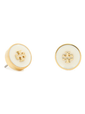 Tory Burch Tory Burch Naušnice Kira Enamel Circle Stud Earring 64885 Zlatna