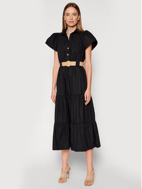 Rinascimento Rinascimento Ежедневна рокля CFC0017900002 Черен Regular Fit