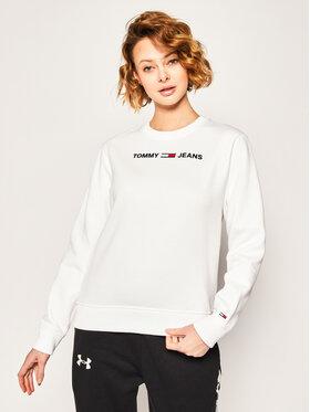 Tommy Jeans Tommy Jeans Bluză Tjw Essential Logo Sweatshirt DW0DW07976 Alb Regular Fit