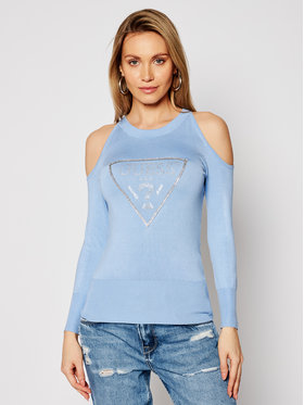 Guess Guess Sweater Aurelie W1RR0D Z2NQ0 Kék Regular Fit