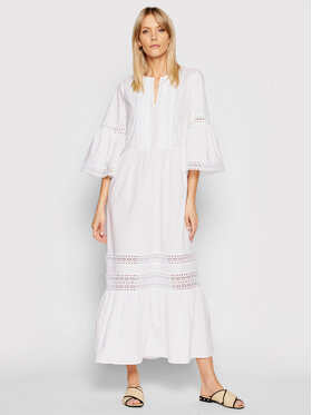 TwinSet TwinSet Robe de jour 211TT2460 Blanc Regular Fit